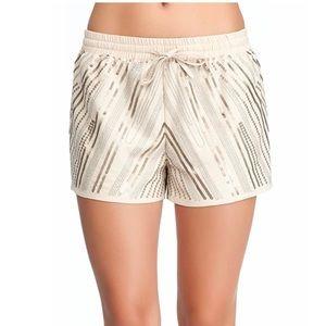 "NWT BEBE ""Kioko"" embellished drawstring shorts"